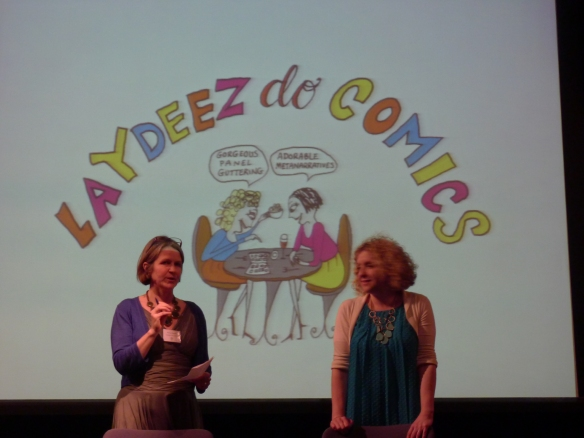 It was also so great to spend time with Nicola and Sarah—incredible and inspiring artists and scholars.  In addition to presenting at the conference, they hosted the inaugural session of Laydeez do Comics, Glasgow.  A fun evening.